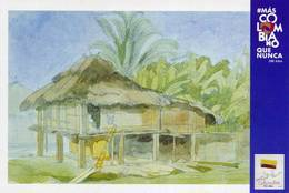 Lote PEP1343, Colombia, 2019, Entero Postal, Postcard, Historia, History, Choco, Edward Mark Watercolor - Colombia