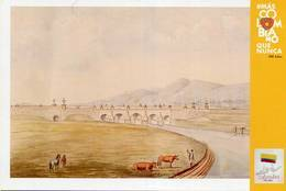 Lote PEP1344, Colombia, 2019, Entero Postal, Postcard, Historia, History, Cundinamarca, Cow Horse Bridge - Colombia
