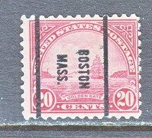U.S. 698    Perf. 10 1/2 X 11   (o)    MASS.  1931  Issue - United States