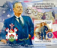 TOGO 2019 - Th. Roosevelt, Arrows S/S. Official Issue - Tiro Al Arco