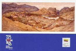 Lote PEP1348, Colombia, 2019, Entero Postal, Postcard, Historia, History, Santa Fe De Antioquia, Mountain, River - Colombia