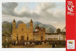 Lote PEP1349, Colombia, 2019, Entero Postal, Postcard, Historia, History, Santa Fe De Bogota, Horse, Church, Mountain - Colombia