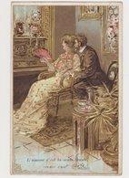 Carte Fantaisie Gaufrée / L 'amour C'est La Seule Beauté .V.Hugo - Couples
