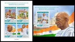 DJIBOUTI 2019 - M. Gandhi, Taj Mahal, M/S + S/S. Official Issue [DJB190408] - Mosques & Synagogues