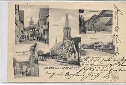 67 WESTHOFEN . Souvenir En 5 Clichés Dont L'auberge David Schneider , Gare , édit :  , écrite En 1903 , état Extra - Frankreich