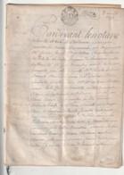 *** Mairie De BORDEAUX  ***année  1756  Aménagement De La Place Dauphine Préemption D'un Jardin - Sur Velin Véritable - Historical Documents
