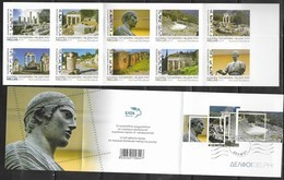 GREECE, 2019, MNH, TOURISM, DELPHI, ARCHAEOLOGY, TEMPLES, ORACLES, THEATRES, STATUES, CHARIOTEER, BOOKLET - Archaeology