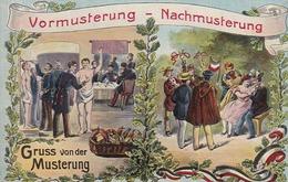 AK Vormusterung - Nachmusterung - Gruss Von Der Musterung - Patriotika - Humor - Ca. 1910 (43236) - Humor