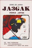QSL Card Amateur Radio Funkkarte Japan Japon Nippon Osaka Minamieumachi Kishiwada-City - Radio Amatoriale