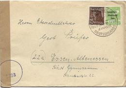 """150 - 44 - Enveloppe Avec Oblitération Spéciale """"Einheit Deutschland 1948"""" - Censure - Soviet Zone"""