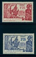 1939 - COSTA DE MARFIL / COTE D'IVOIRE ,  YV. 144 / 145 * , EXPOSICIÓN INTERNACIONAL DE NUEVA YORK - Costa De Marfil (1892-1944)