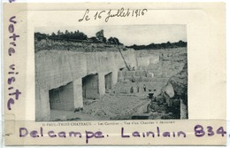 - St-PAUL-TROIS-CHATEAUX - Les Carriéres, Vue D'un Chantier à Découvert, écrite, 1916, TBE, Scans. - Autres Communes