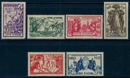1937 - COSTA DE MARFIL / COTE D'IVOIRE ,  YV. 133/138 * , **  EXPOSICIÓN INTERNACIONAL DE PARIS - Costa De Marfil (1892-1944)