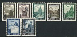 LOTE 1922  ///  (C155) AUSTRIA 1947  YVERT Nº: 47/53 //  MICHEL Nº:822/828  **MNH - Luftpost
