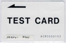 TEST CARD  - ACR0000103 - RARE - Voir Scans - Chine