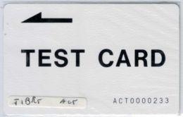TEST CARD  - ACT0000233 - RARE - Voir Scans - Chine