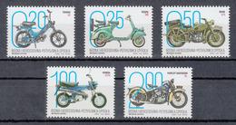 Bosnia Serbia 2019 Motorcycles Motorbike Transportation TOMOS A3 VESPA 125 BMW R75 HONDA ST70 Harley Davidson EL Set MNH - Bosnien-Herzegowina
