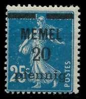 MEMEL 1920 Nr 20b Postfrisch X887D7E - Memelgebiet
