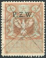 Eastern Poland PZW 1919 Polish Occupation Ukraine Belorussia Belarus 5 M. Revenue Fiscal Tax Russia Civil War P.Z.W. - Revenue Stamps