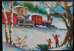 BUON NATALE - FELICE ANNO NUOVO - Treno / Train /  Vg - New Year