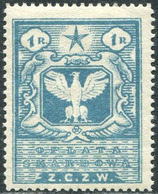 Russia Civil War 1920 Polish Occupation Ukraine Belarus Wilno 1 Rub. Revenue Fiscal Tax Stempelmarke Polen ZCZW Poland - Unclassified