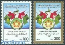 Lybya 1991 Magreb Union 2v, (Mint NH), History - Flags - Libia