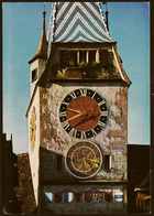 Zug  -  Astronomische Uhr Am Zytturm  -  Ansichtskarte Ca. 1980   (groß) - ZG Zoug