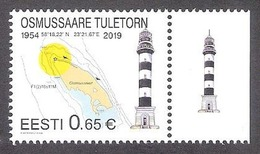 Lighthouses Osmussaar Lighthouse Estonia 2019 MNH Stamp  Mi 950 - Estonia