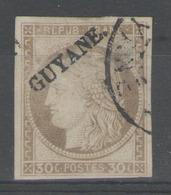 GUYANE:  N°10 Oblitéré       - Cote 170€ - - Guyane Française (1886-1949)