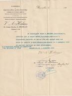 Bruxelles 1916 - Lettre à Entête - Vve A. Helaers ( Fabrique De Cigarettes Collées, Agrafées à Bouts Sabrés,...) - Petits Métiers