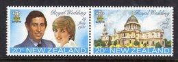 NEW ZEALAND - 1981 ROYAL WEDDING SET (2V) FINE MNH ** SG 1249a - New Zealand
