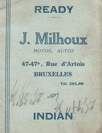Bruxelles - Calendrier Motocycliste 1928 - J. Milhoux (Ateliers /  Autos, Motos ) - Calendriers