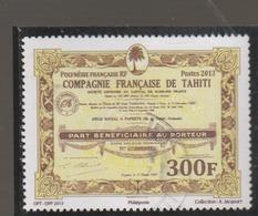 POLYNESIE 2013 ACTIONS ANCIENNES DE SOCIETE  OBLITERE - Polynésie Française