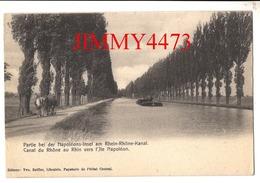 CPA - Péniche Canal Du Rhône Au Rhin Vers L'Ile Napoléon En 1905 ( Banlieue De Mulhouse ) 68 Haut-Rhin - Ed. Vve Seiffer - Mulhouse