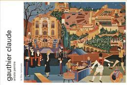 71617172 Kuenstlerkarte Gauthier Claude Artiste Peintre Kuenstlerkarte - Illustrateurs & Photographes