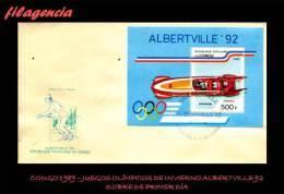 AFRICA. CONGO SPD-FDC. 1989 JUEGOS OLÍMPICOS DE INVIERNO ALBERTVILLE 92 - FDC