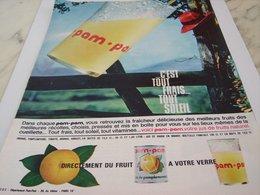 ANCIENNE PUBLICITE JUS DE FRUIT PAM PAM 1964 - Affiches