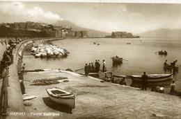 NAPOLI CASTEL DELL'OVO  FORMATO PICCOLO - VIAGGIATA 1955  PERFETTA - Napoli (Naples)