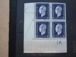 VEND BEAUX TIMBRES DE FRANCE N° 701 EN BLOC DE 4 + 2 BDF , XX !!! - 1944-45 Maríanne De Dulac