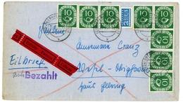 "Nr. 128 MEF (8) Mit Paaren Eilbrief ""Oberhausen-Wesel"" - Lettres & Documents"