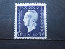 VEND BEAU TIMBRE DE FRANCE N° 701 , XX !!! (b) - 1944-45 Maríanne De Dulac