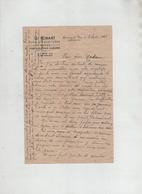 Lettre 1950 Robart Vins Spiritueux Bières Beaucamps Le Vieux  Lieutenant Aviateur Abattu Juin 1940 - Manuskripte