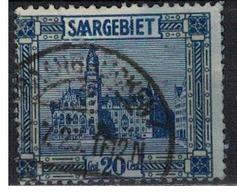 SARRE             N°     YVERT    89    OBLITERE       ( Ob  5/26 ) - 1920-35 Saargebiet – Abstimmungsgebiet