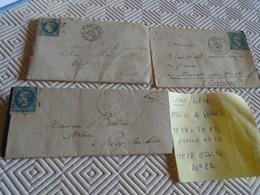 SEINE ( PARIS) - 3 LETTRES/ TP Divers N°  29 X 2+ 22  ++  OBL/ETOILES DE PARIS N° 22 ++ 2  X N° 20 ( 2 PHOTOS) - 1849-1876: Klassik
