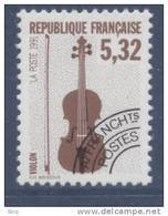 N° 223  Année 1992, Les Instruments De Musique, Valeur Faciale 5,32 F - Preobliterados