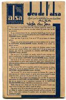 Jeu De L'Oie Publicitaire ALSA Levure Alsacienne - Autres