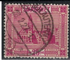 SARRE             N°     YVERT    91  ( 4 )      OBLITERE       ( Ob  5/26 ) - 1920-35 Saargebiet – Abstimmungsgebiet