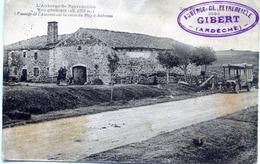 - 07 -ARDECHE- L'Auberge De  PEYREBEILHE -Passage De L'Autobus Sur La Route Du Puys à Aubenas - France