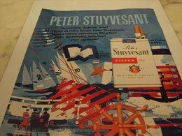 ANCIENNE PUBLICITE CIGARETTES PETER STUYVESANT 1964 - Tabac (objets Liés)