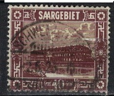 SARRE             N°     YVERT    93    ( 1 )          OBLITERE       ( Ob  5/26 ) - 1920-35 Saargebiet – Abstimmungsgebiet